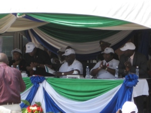 H.E. President Koroma launched the NSP 2011-2015 on WAD